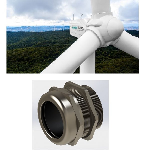 Siemens protects their connections with Fleximat metallic Maxi Cable Glands