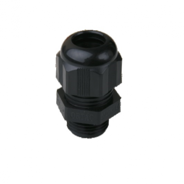IP-68 Metric Thread Black Polyamide Fleximat Cable gland