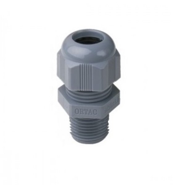 Long Thread IP-68 Metric Thread Grey Polyamide Fleximat Cable gland