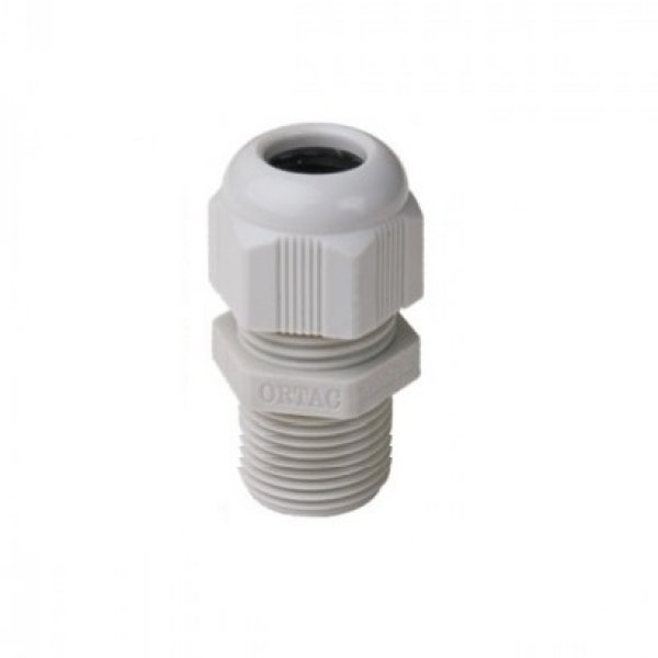 Long Thread IP-68 Metric Thread Light Grey Polyamide Fleximat Cable gland