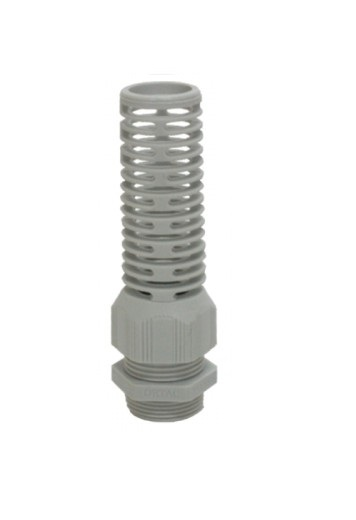 Spiral Type IP-68 PG Thread Light Grey Polyamide Fleximat Cable gland