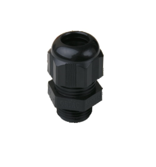 (V-0) IP-68 Metric Thread Black Polyamide Fleximat Cable gland