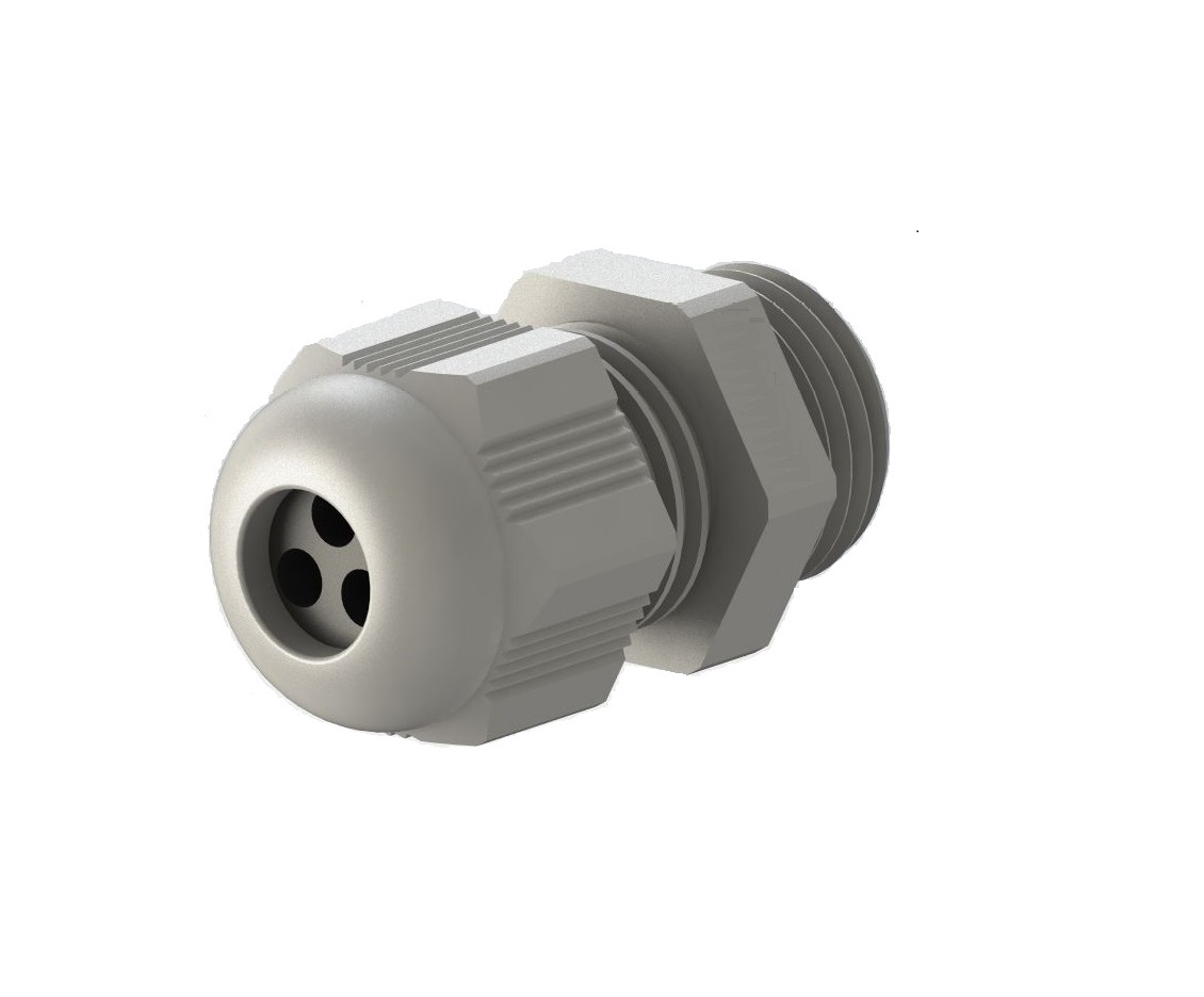 Multihole IP-68 PG Thread Grey Polyamide Fleximat Cable gland